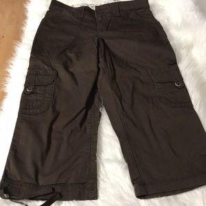 Lee women's capris size 4 brown